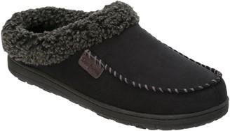 Dearfoams Microsuede Moccasin Toe Clogs with Berber Cuff