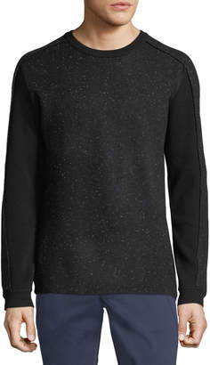 Karl Lagerfeld Paris Men's Speckled Pullover Sweater