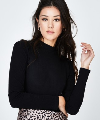 Alice In The Eve Long Sleeve Cut Out Bodysuit Black