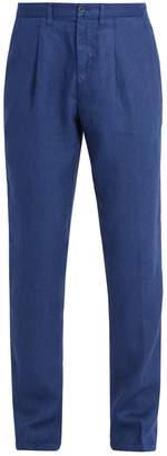 120% Lino 120 LINO Slim-leg linen trousers