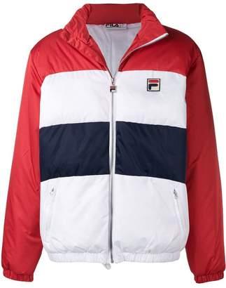 Fila striped bomber jacket