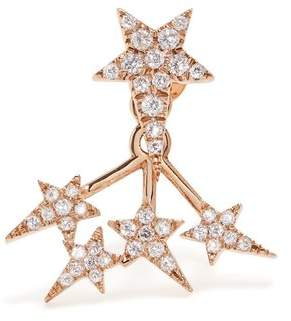 Diane Kordas Diamond & Rose Gold Star Single Earring - Womens - Gold