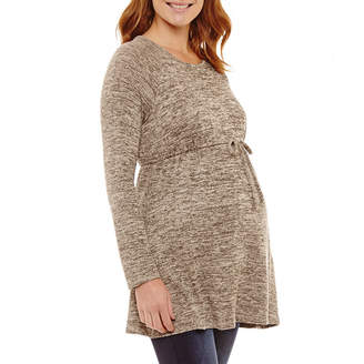 Three Seasons Maternity Long Sleeve Babydoll Top - Maternity