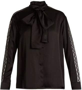 Stella McCartney Neck-tie silk-satin blouse