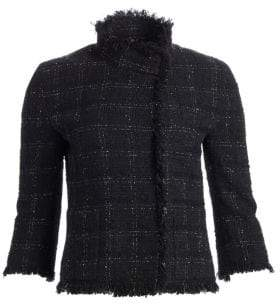 Akris Punto Fringe Tweed Cropped Jacket