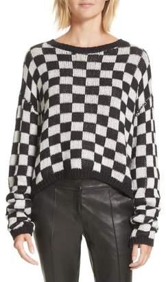 A.L.C. Remington Checkered Knit Sweater