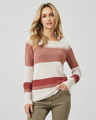 Le Château Stripe Boat Neck Sweater