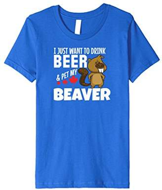 Drink Beer and Pet My Beaver Tshirt Funny Canadian Tee