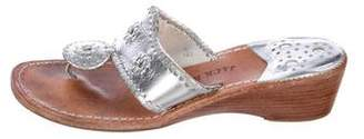 Jack Rogers Metallic Wedge Sandals