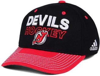 adidas New Jersey Devils Locker Room Structured Flex Cap