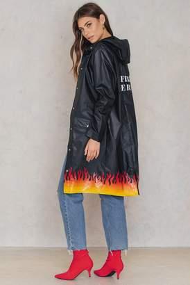 NA-KD Na Kd Set On Fire Rain Coat Black