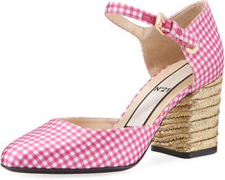 No.21 No. 21 Gingham Jute-Heel Sandal Pump