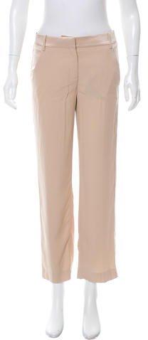 Emilio Pucci Silk-Blend Mid-Rise Pants w/ Tags