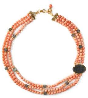 Bounkit Gold-Tone Stone And Bead Choker