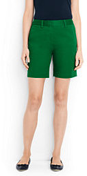 "Lands' End Women's Tall Mid Rise 7"" Chino Shorts-Meadowland Green $49 thestylecure.com"