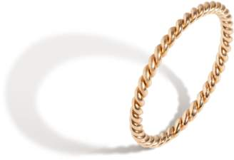 Aurate Thick Stackable Twist Ring