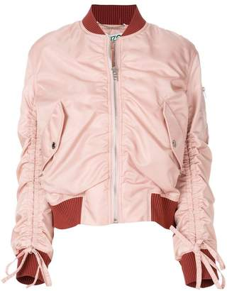 Kenzo ruched detail bomber jacket