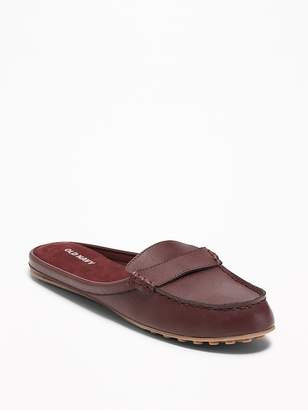 Old Navy Faux-Leather Moccasin Mules for Women