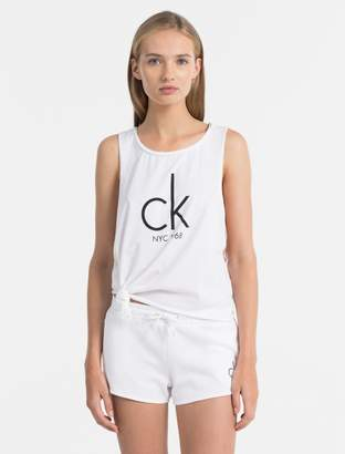 Calvin Klein nyc side knot tank top