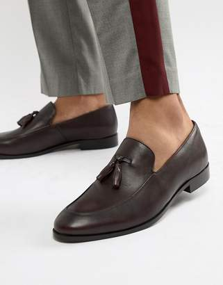 Zign Shoes tassel loafers in burgundy leather