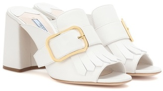 Slip-on Leather Sandals