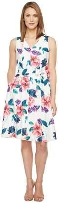 Ellen Tracy Seamed V-Neck Dress Women's Dress