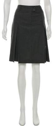 Armani Collezioni Wool Knee-Length Skirt