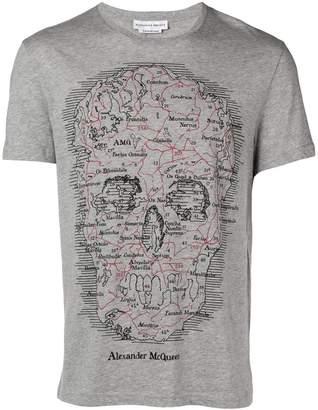 Alexander McQueen Map skull T-shirt