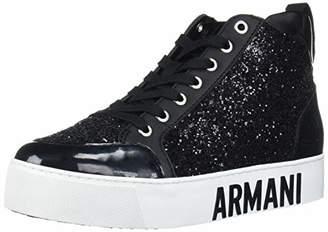 Armani Exchange A X Women's Sneaker High Top with Glitter Walking Shoe