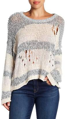 Wildfox Couture Haven Distressed Split Back Sweater