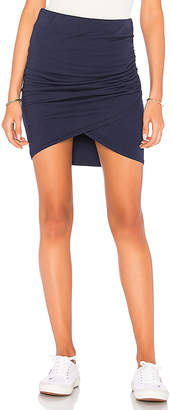 Michael Stars Cross Front Mini Skirt in Navy $78 thestylecure.com