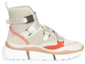 Chloé Crosta High-Top Sneakers