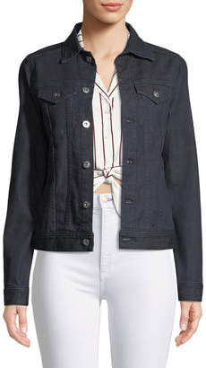 AG Jeans May Button-Front Denim Trucker Jacket