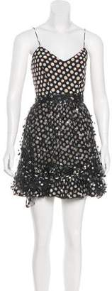 Marco De Vincenzo Polka Dot Mini Dress