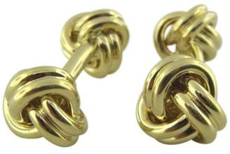 Tiffany & Co. 18K Yellow Gold Double End Love Knot Cufflinks