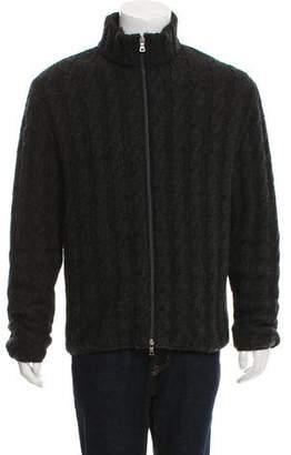 Prada Wool Cable Knit Jacket