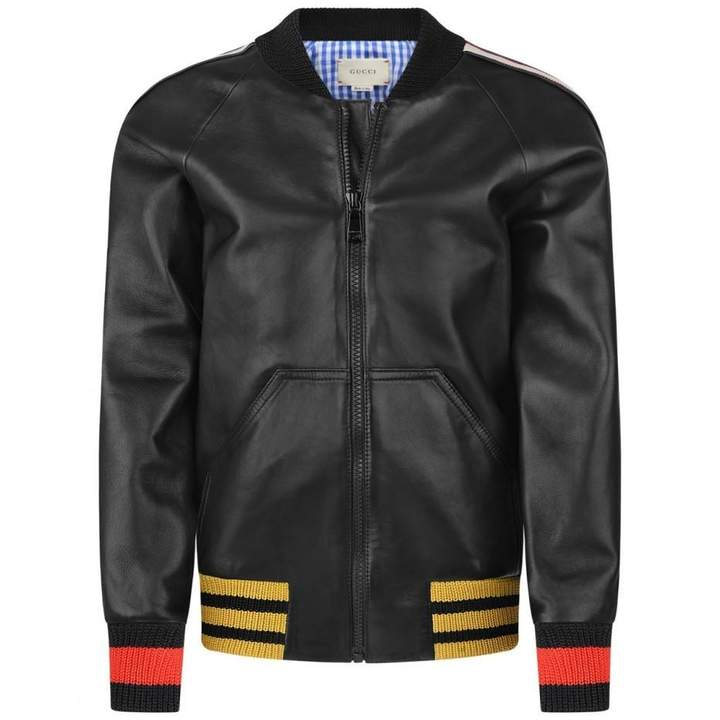 GUCCI*EXCLUSIVE* Black Leather Jacket
