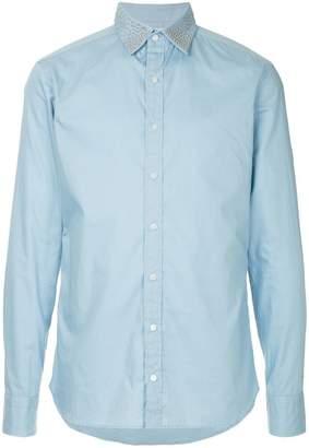 Kolor studded collar shirt