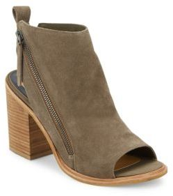 Pierce Suede Open Toe Booties $180 thestylecure.com