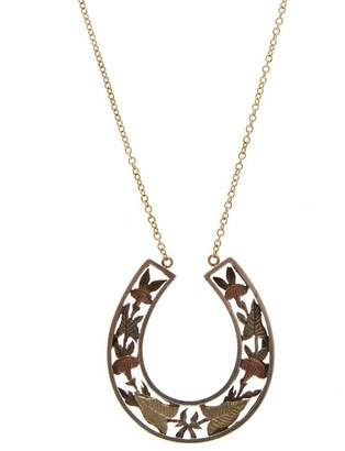 Annina Vogel Silver and Gold Horseshoe Necklace