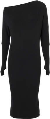 Enza Costa Off Shoulder Thumbhole Knit Dress