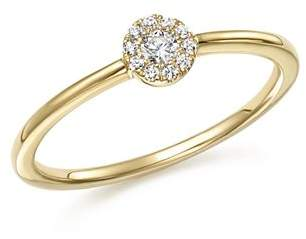 Bloomingdale's Diamond Cluster Stacking Ring in 14K Yellow Gold, .10 ct. t.w. - 100% Exclusive
