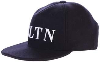 Valentino Blue Branded Baseball Hat