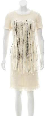 Chanel Wool Fringe Dress