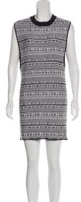 Helmut Lang Linen-Blend Mini Dress
