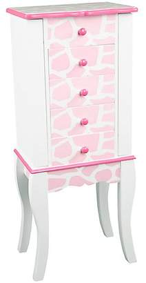 Teamson Fashion Prints Giraffe Jewelry Armoire