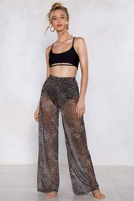 Nasty Gal Cause a Purr Leopard Cover-Up Pants