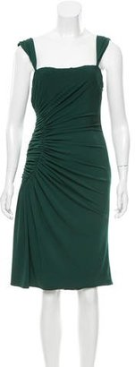 Vera Wang Ruched Midi Dress $95 thestylecure.com