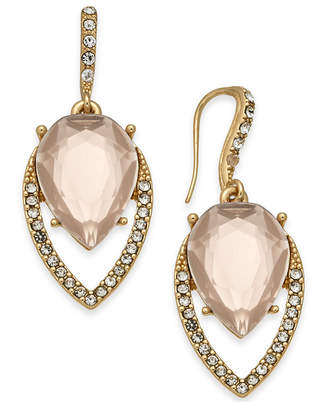 INC International Concepts I.N.C. Gold-Tone Pavé & Colored Stone Navette Drop Earrings, Created for Macy's