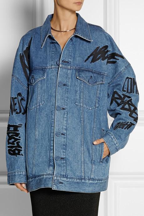 Julien David + Ambush embellished denim jacket